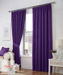 Длинные шторы. Тоскана (фиолетовый) рогожка.
