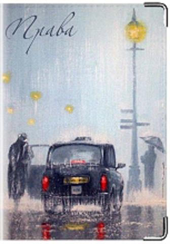 """Обложка для водительских удостоверений """"Дождь"""""""