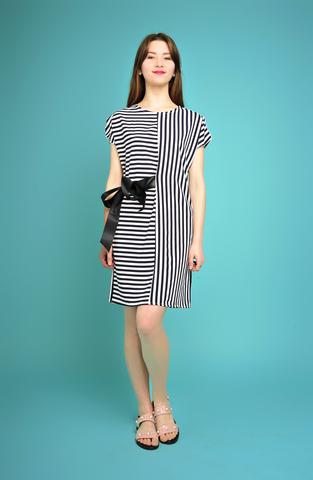 Платье Арина полосы ч/б