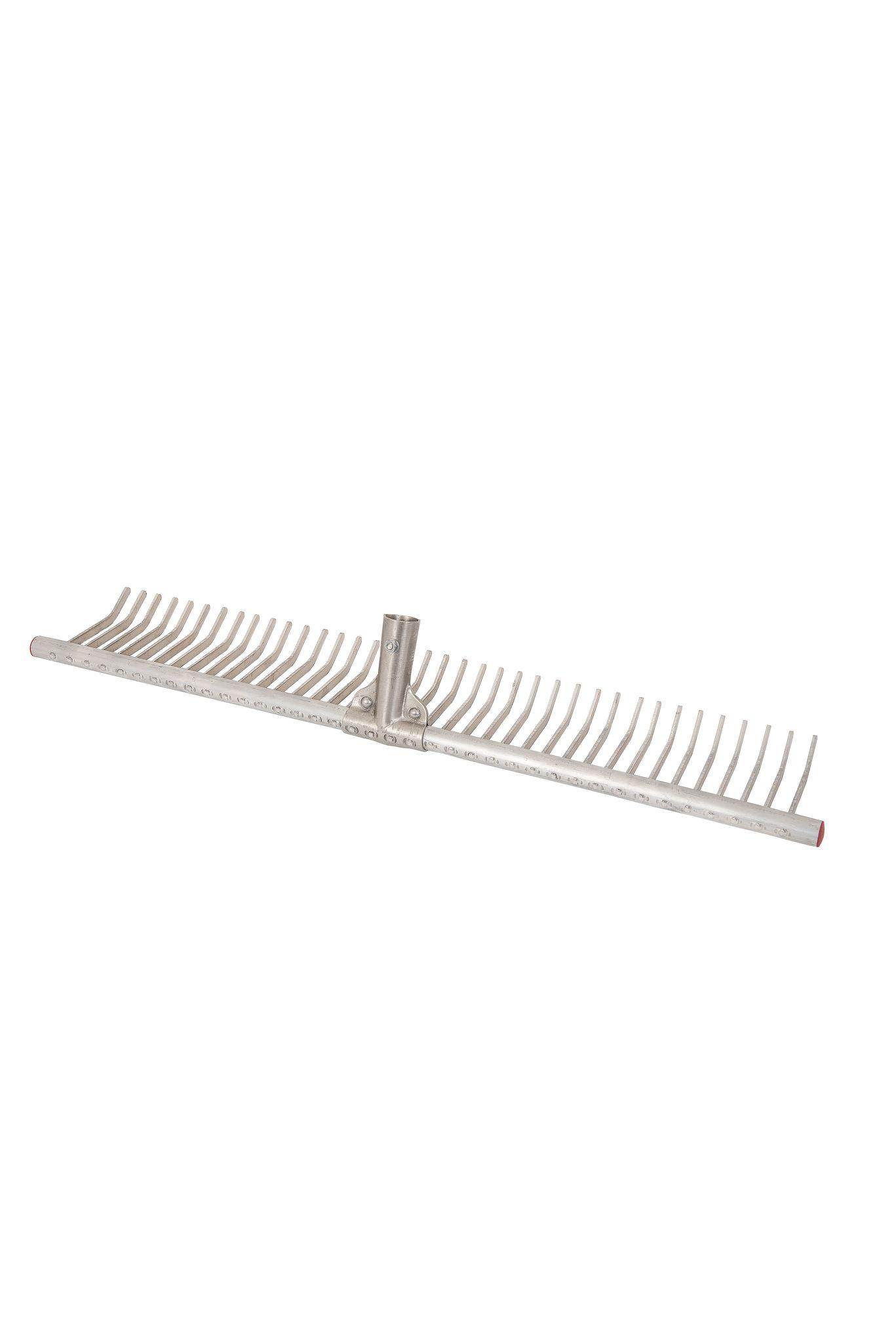 Грабли для газона алюминиевые Offner 71см (без черенка)