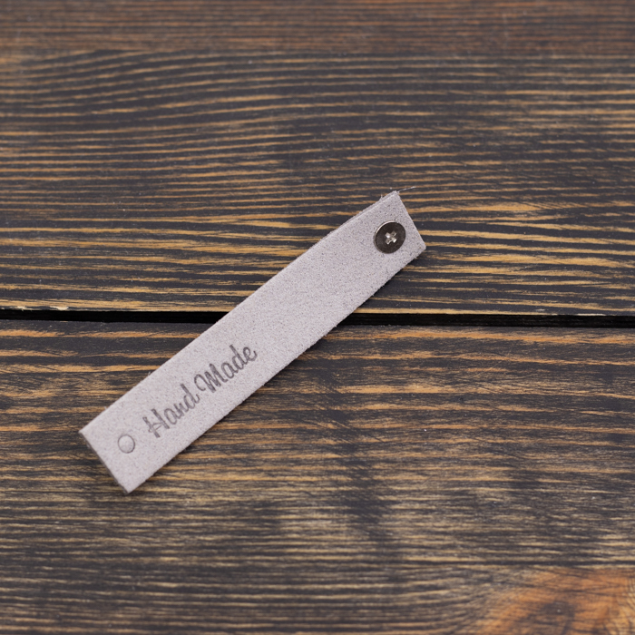 "Вспомогательная фурнитура Бирка на кнопке  ""Hand Made"" N5 серая IMG_9023.jpg"