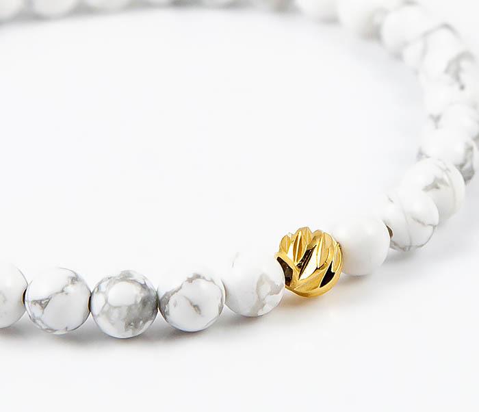 BS763 Мужской белый браслет из натурального камня кахолонга фото 03