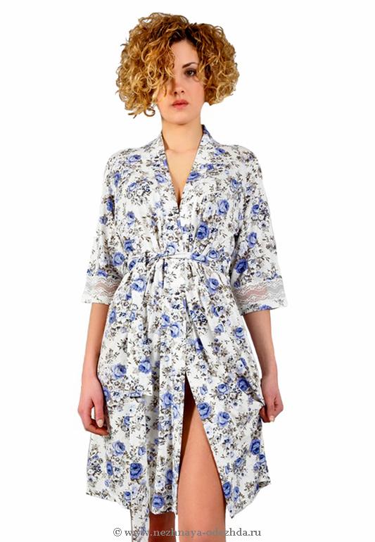 Цветочный женский халат Tata