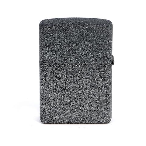 Зажигалка Zippo с покрытием Iron Stone, латунь/сталь, серая, матовая, 36x12x56 мм
