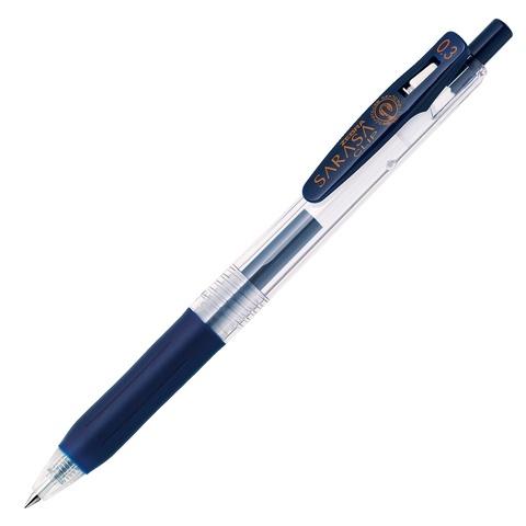 Ручка гелевая Zebra Sarasa Clip 0.3 сине-чёрная / Blue Black