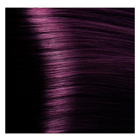 Крем краска для волос с гиалуроновой кислотой Kapous, 100 мл - HY 6.2  Темный блондин фиолетовый