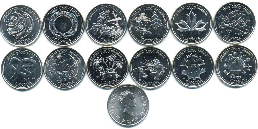 """Набор """"Миллениум"""" 2000 год (12 монет) UNC"""