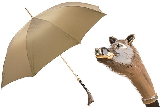 Зонт-трость Pasotti Boar Umbrella, Италия (арт.479 6768-8 K47).