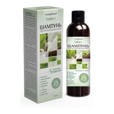 Compliment 5 oils+ Шампунь против выпадения волос