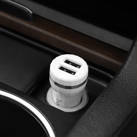 Z27 Staunch dual port in-car charger set(Lightning)
