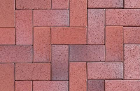 ABC Eisenschmelz-bunt-geflammt, 200x100x52 - Тротуарная клинкерная брусчатка