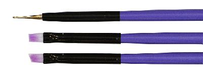 Набор кистей TNL, Набор кистей 3 шт. (фиолетовый) nabor-kistej-tnl-3-sht-fioletovyj.png