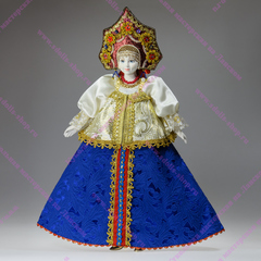 Интерьерная кукла в русском костюме