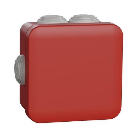 Монтажная коробка. Цвет Красный. Schneider Electric(Шнайдер электрик). Mureva styl(Мурева стайл). ENN05164