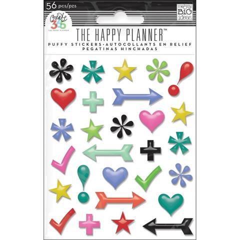 Объемные стикеры Create 365 Happy Planner Puffy Stickers - 56шт.