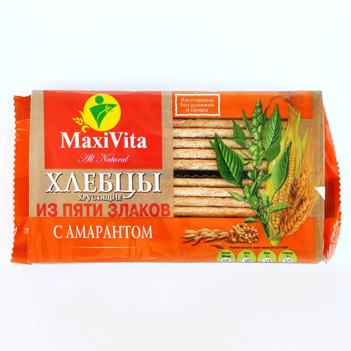 Хлебцы 5 злаков с амарантом 150 гр