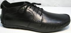 Ботинки мокасины мужские Ikoc 112-1Black