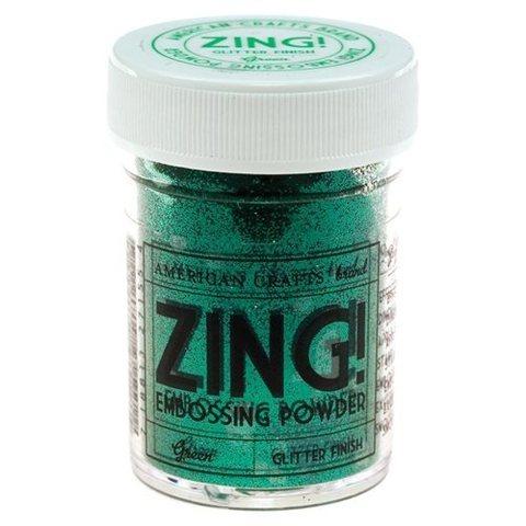 Пудра для эмбоссинга ZING! Green Glitter