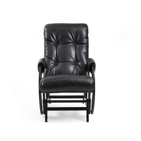 Кресло-качалка гляйдер Модель 68 (венге/ Vegas lite black) черный