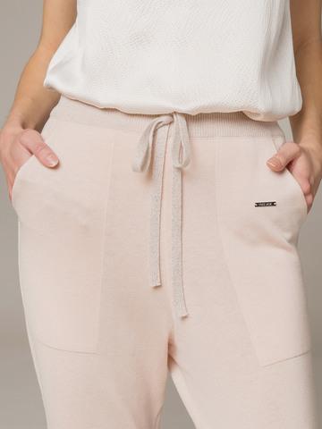Женские брюки светло-розового цвета из шелка и кашемира - фото 4
