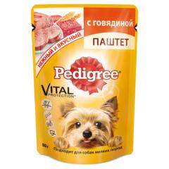 Pedigree паштет с  говядиной  для взрослых собак мелких  пород 85 гр