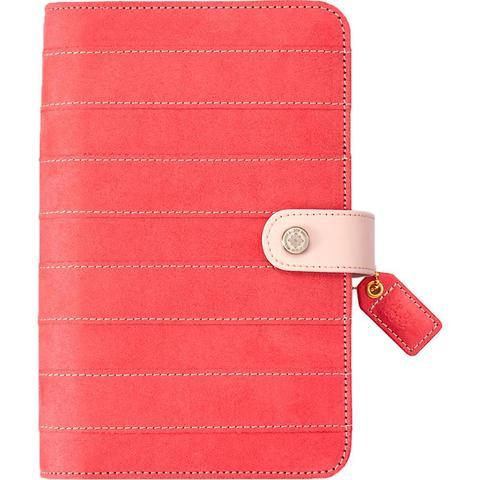 Планер PERSONAL PLANNER: Pink Stripe Suede by Websters Pages (БЕЗ внутреннего наполнения)