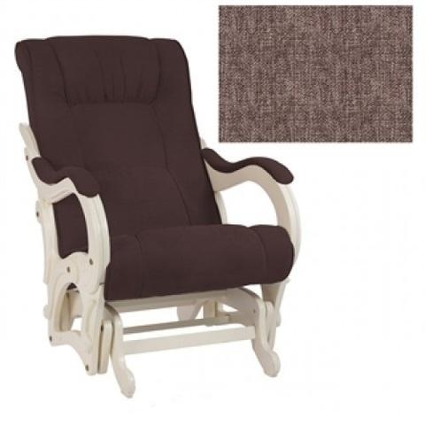 Кресло-качалка гляйдер Модель 78 (Верона Brown/Сливочный) коричневый