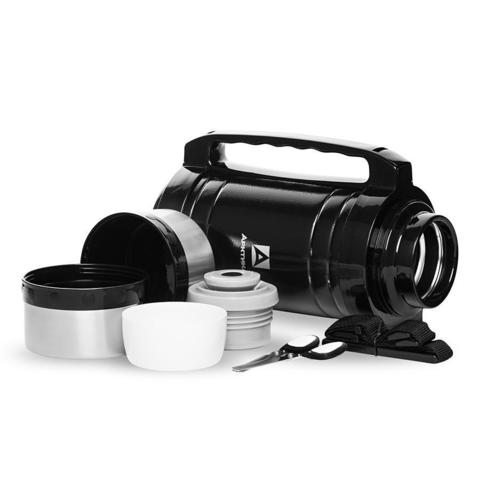 Термос универсальный (для еды и напитков) Арктика (2,5 литра) с супер-широким горлом, черный