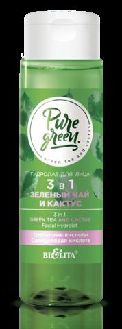 Белита PURE GREEN Гидролат для лица 3 в 1