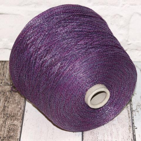 Смесовка со льном Casa Del Filato / BERRY  320 фиолетовый
