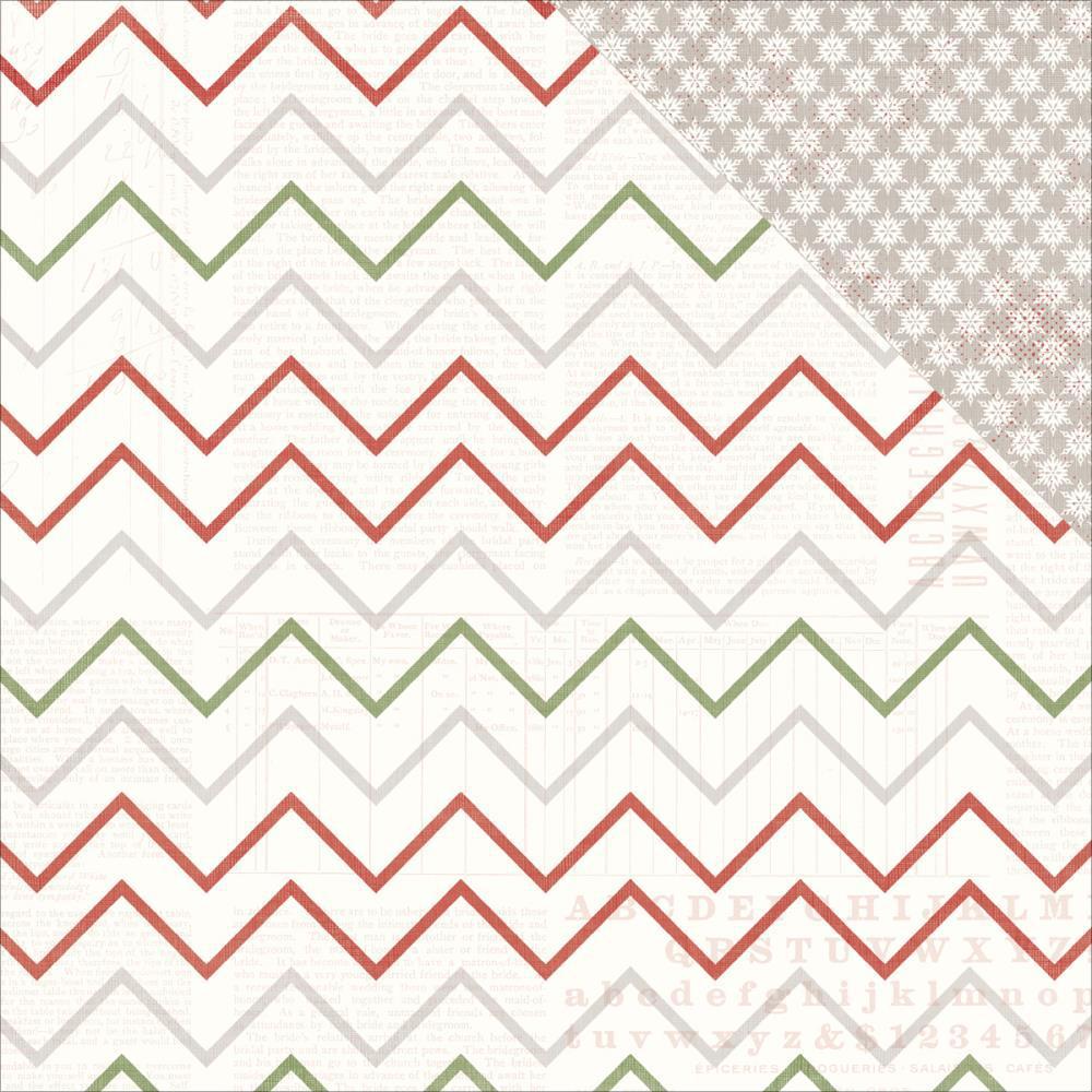Лист двусторонней бумаги  30 х30 см из коллекции YULETIDE