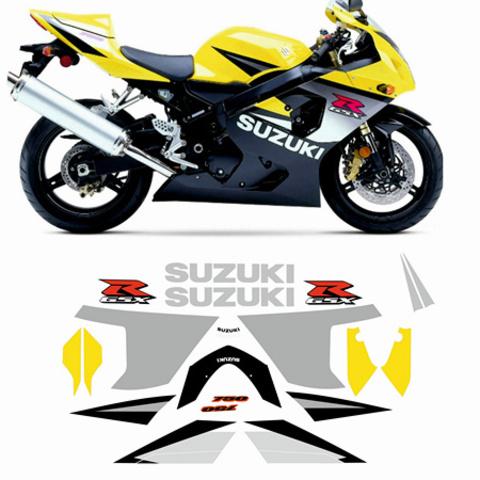 Набор виниловых наклеек на мотоцикл Suzuki GSX-R 750, K5 (2005)
