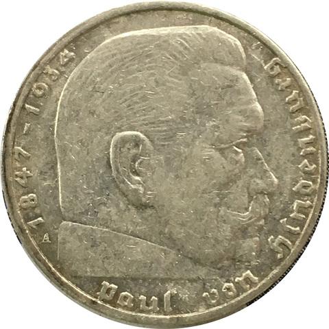 2 рейхсмарки 1938 год (А)