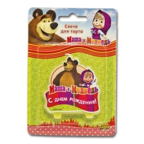 Свеча для торта Маша и Медведь