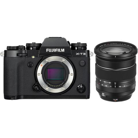 Fujifilm X-T3 Kit XF 16-80mm F4 R OIS WR Black