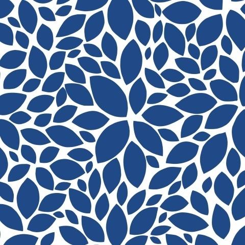 Синие листики