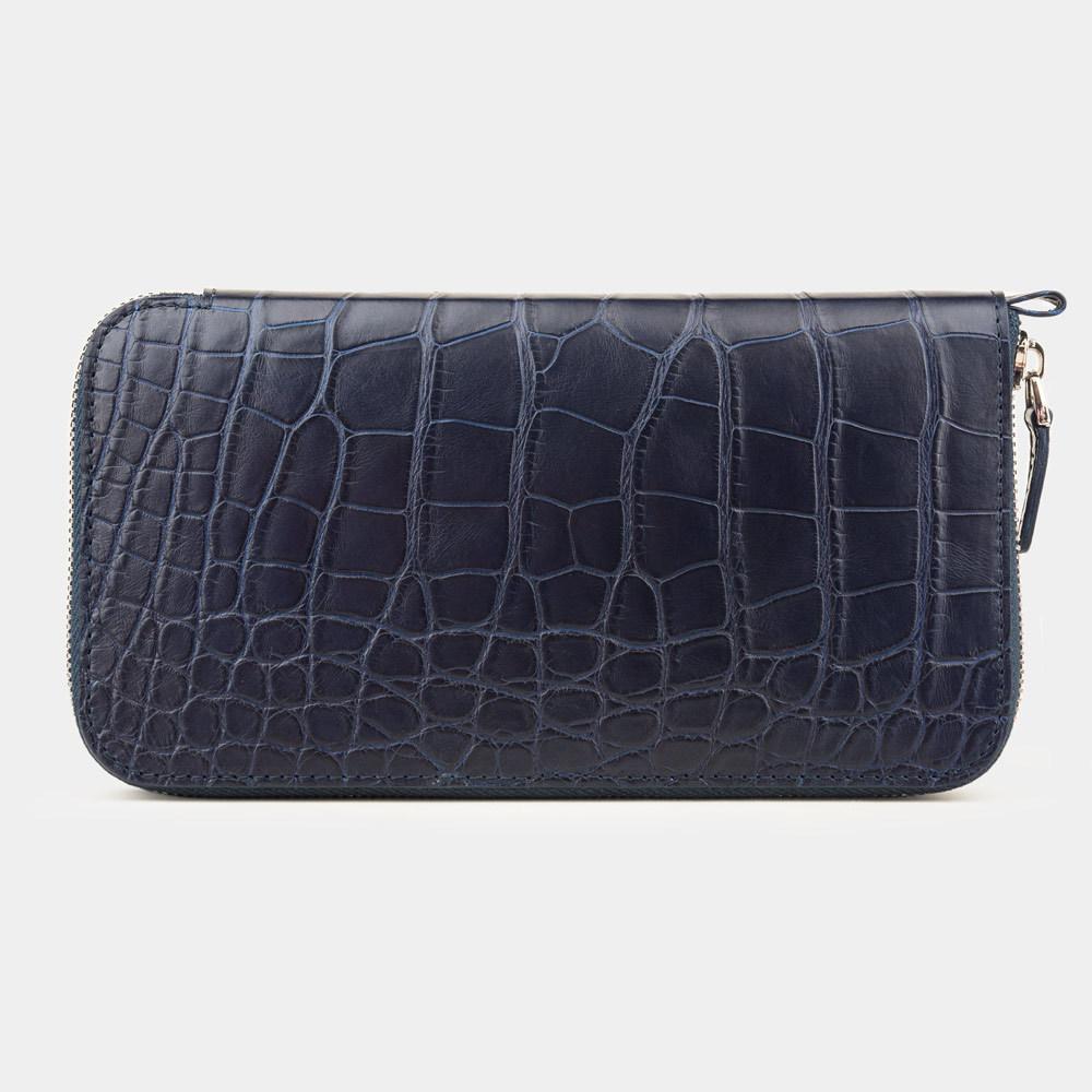 Special order: Кошелек длинный Marquise Premium из натуральной кожи крокодила