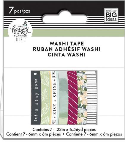 Набор скотчей Happy Planner Mini Washi Tape 3 мм x 6 м х 10 шт -Homebody