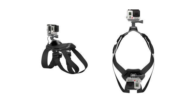 Крепление-упряжка для собак GoPro ADOGM-001 Fetch Dog Harness вид спереди и сбоку