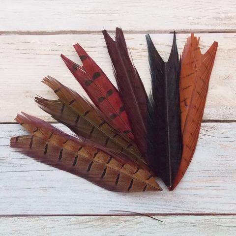 VENIARD Отрезки хвостовых перьев фазана Pheasant Cock Ringneck Centre Mixed 6 colour