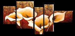 Цветочные раковины (Ручная работа маслом)