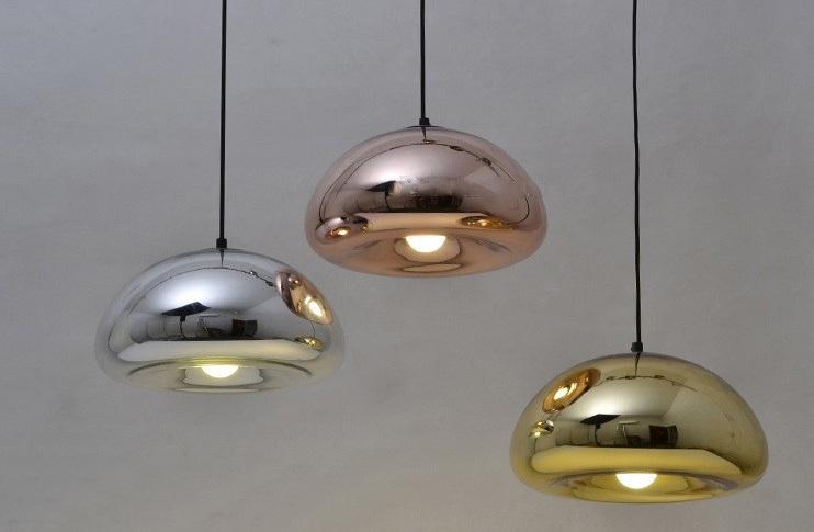 Подвесной светильник копия Void by Tom Dixon D15 (бронзовый)