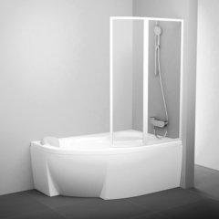 Шторка для ванны Ravak Rosa 160 R Supernova VSK2 стекло Transparent