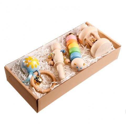 Набор погремушек «Пастельный в подарочной коробке»
