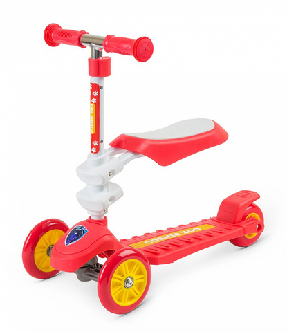 Детский трёхколёсный самокат с сидением