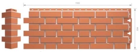Фасадные панели Docke FLEMISH Красный
