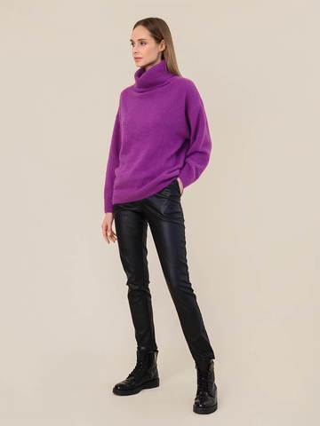 Женский свитер фиолетового цвета из ангоры - фото 5