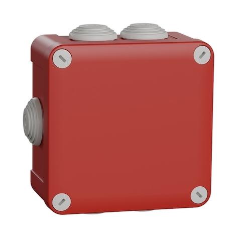 Монтажная коробка. Цвет Красный. Schneider Electric(Шнайдер электрик). Mureva styl(Мурева стайл). ENN05165