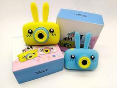 игрушечный детский фотоаппарат с чехлом зайчик