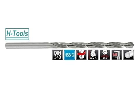 Сверло по металлу ц/x 10,0x184/121мм DIN340 h8 10xD HSS-G 135° HSS-Tools 1070-1100